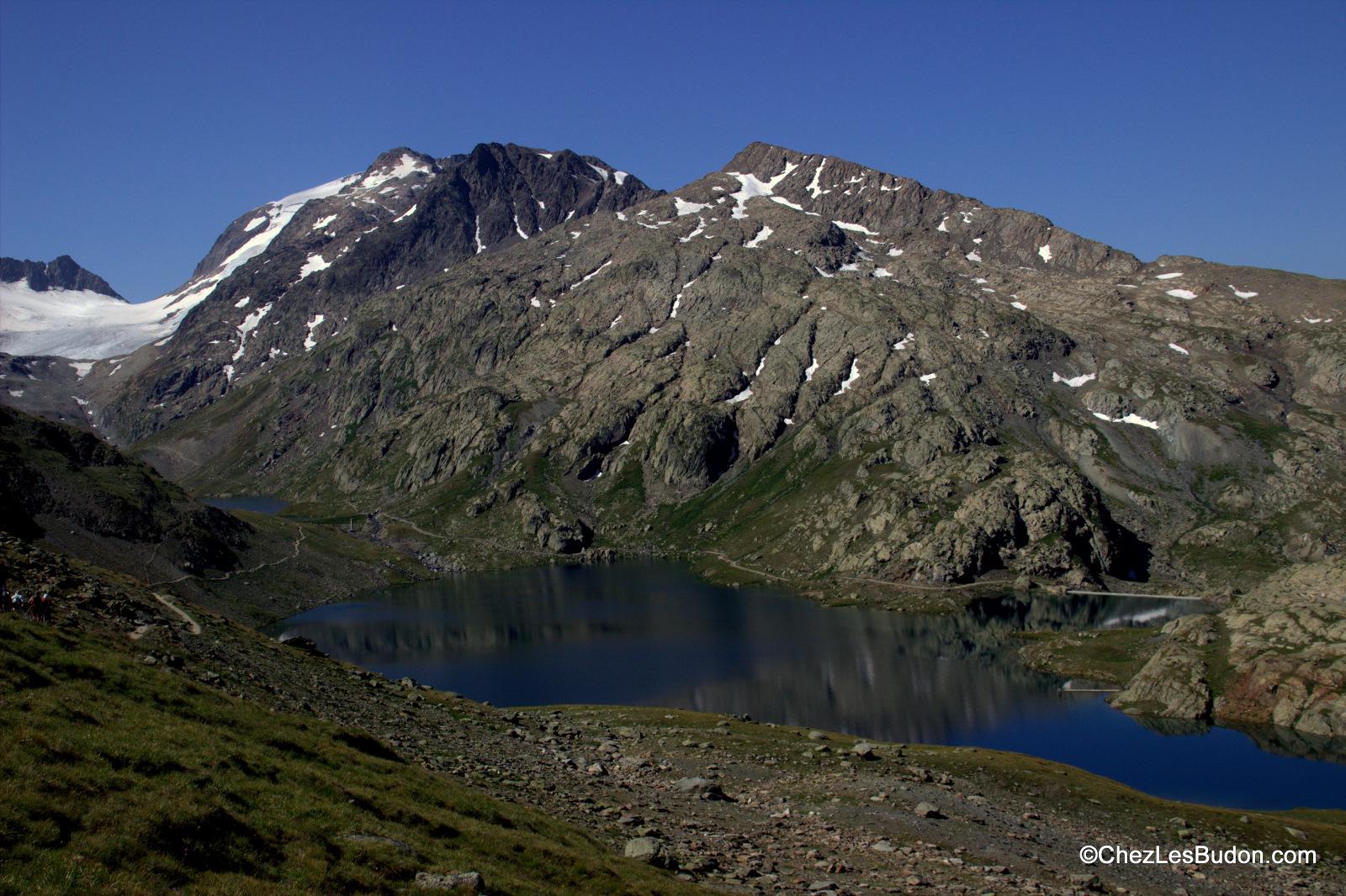 Lac Bramant (2431m), lac Blanc 2509m) & lac Tournant (2502m)
